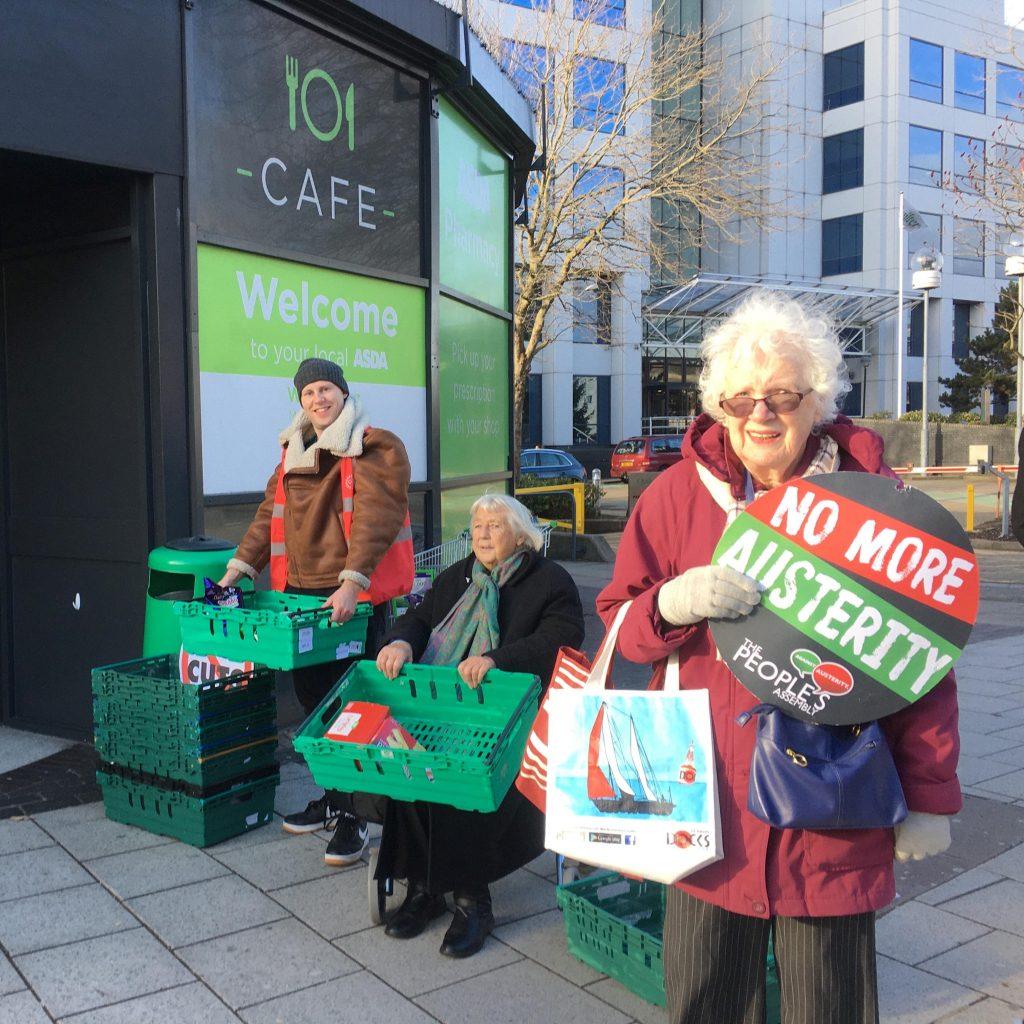 Generous Southampton shoppers donate trolley-fulls to food bank