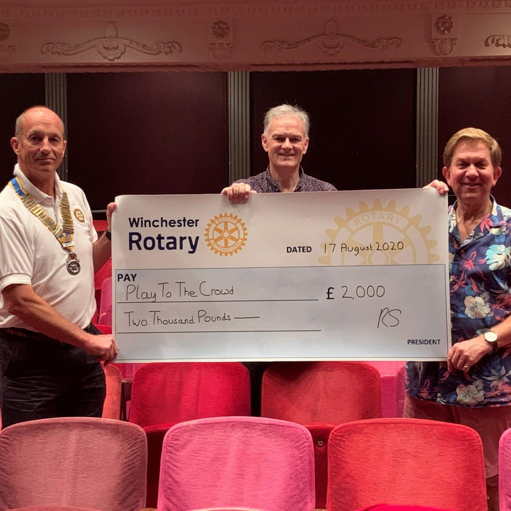 Winchester Rotary supports theatre's survival appeal
