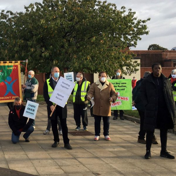 Anti-racism rally in Southampton following racially motivated attack