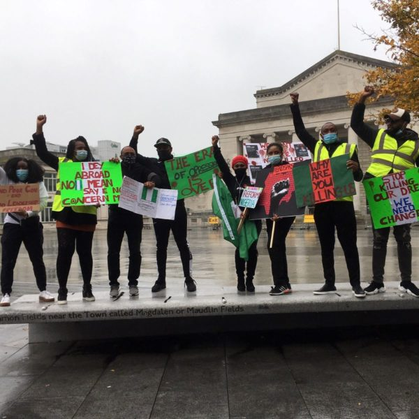 End SARS protest held in Southampton in solidarity with the people of Nigeria